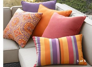 c&b outdoor pillows