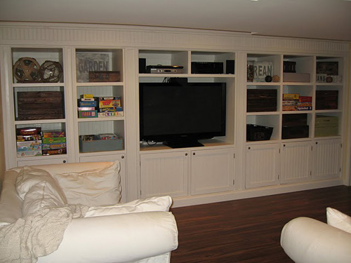 Simple Built In Entertainment Center