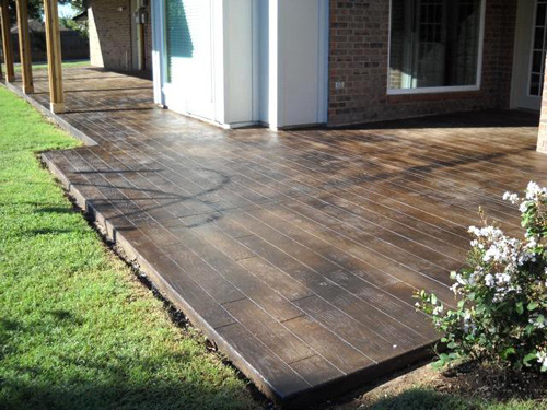 Stamped Concrete That Looks Like Wood : De jong dream house stamped concrete
