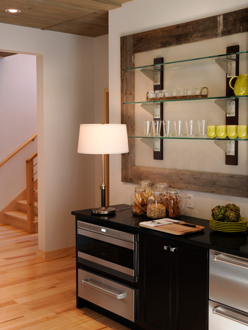 Basement inspiration the lil house that could for Basement kitchenette with bar
