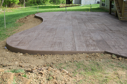 Stamped concrete the lil house that could for Cool concrete ideas