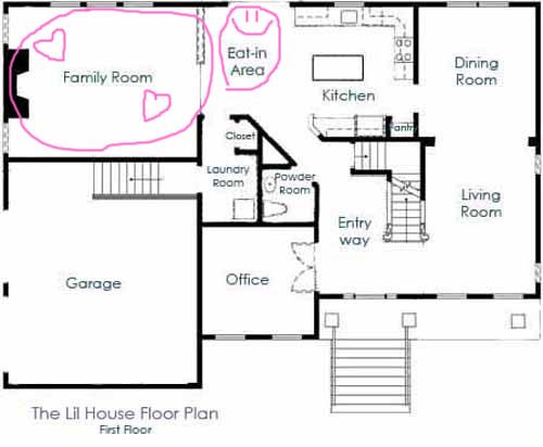 house floor plan 1st floor family room