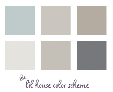 Our Paint Colors the lil house that could