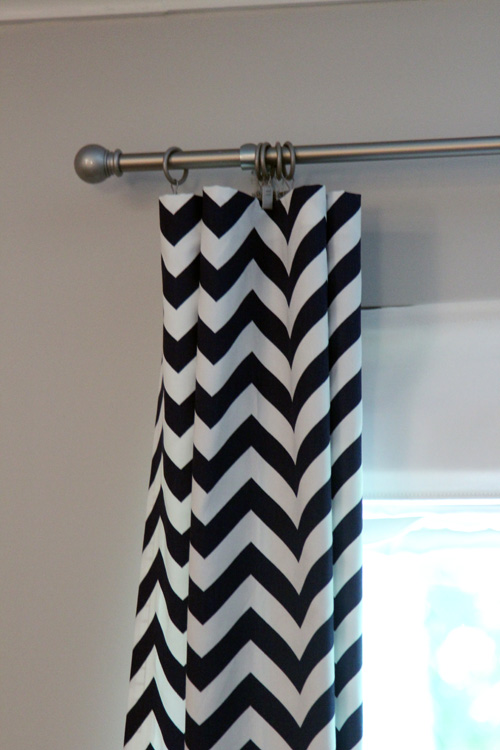 Curtains Ideas chevron curtains blue : No Sew Chevron Curtains | the lil house that could
